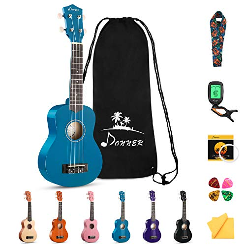 Donner Soprano Ukulele Beginner Pack-21 Inch with Gig Bag