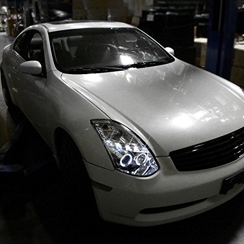 Spec-D Tuning LHP-G35032-TM Chrome Projector Headlight Housing One Hid Compatible D2 Xenon Bulb Not Included