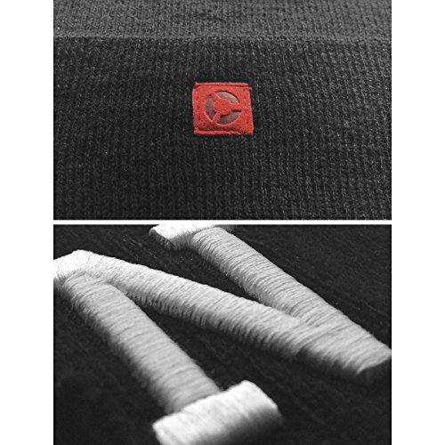 Unica 360 Cuff Letter 349 Beanie Masterdis Schwarz Knit Schwarz Unisex Taglia 8BYWAwq