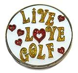 Navika Live Love Golf Glitzy Ball Marker with Hat