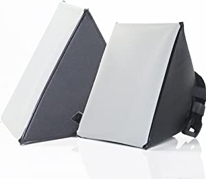 Selens 4 X 5 Inch Portable Mini Light Softbox Flash Universal Diffuser for Nikon Sony Yongnuo Speedlite, Tabletop Lamps, Desktop Photography, Pack of 2