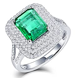 Emerald Diamonds Engagement Ring