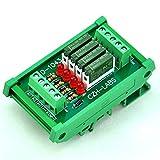 ELECTRONICS-SALON Slim DIN Rail Mount DC24V Source/PNP 4 SPST-NO 5A Power Relay Module, PA1a-24V