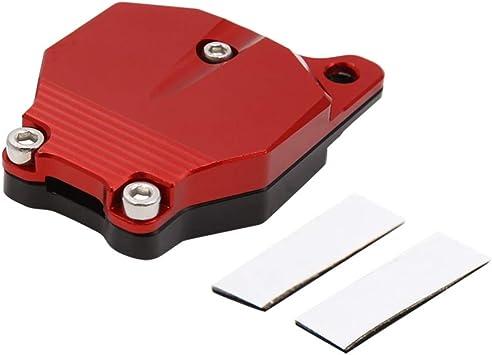 sourcing map Tapa Protector Llave de Moto Cabezal de Llave Aluminio Rojo Carcasa para CB190: Amazon.es: Coche y moto
