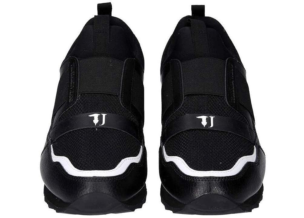 Trussardi Jeans , Herren Turnschuhe schwarz Bianco, schwarz Bianco - - - Größe  42 EU 449e82