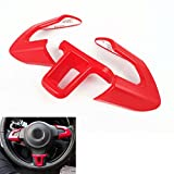 UltaPlay 3x Chrome Red Steering Wheel Cover Trim Unique Car Styling Sticker Fit For VW Golf MK6 POLO Bora 2013 2014