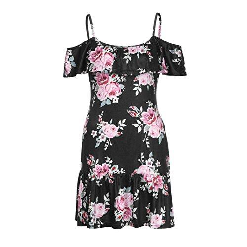 Floral De Robes Pour Mini Femmes Noir Dames Strap Plage Robe Femmes D'Paule Plage Robe D'T Froide Spaghetti De Lady Des DGagement Les CxvUqx0Z