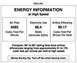52 inch minka ceiling fan - Minka-Aire F843-WH Wave 52