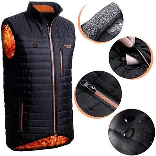 Housefar giacca riscaldata Gilet riscaldato con USB lavabile alimentato tramite leggero e resistente allacqua e al vento per campeggioescursionismo caccia