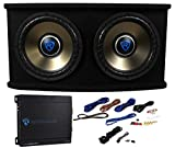 12 inch subwoofer and amp package - Rockville RVSPL12.2 Dual 12