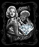 Marilyn Monroe Signature Collection Super Soft Queen Size Plush Blanket - Diamonds are Forever 79'' x 95''