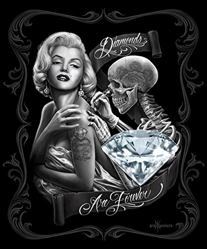 Marilyn Monroe Signature Collection Super Soft Queen Size Plush Blanket - Diamonds are Forever 79'' x 95'' by Ben&Jonah