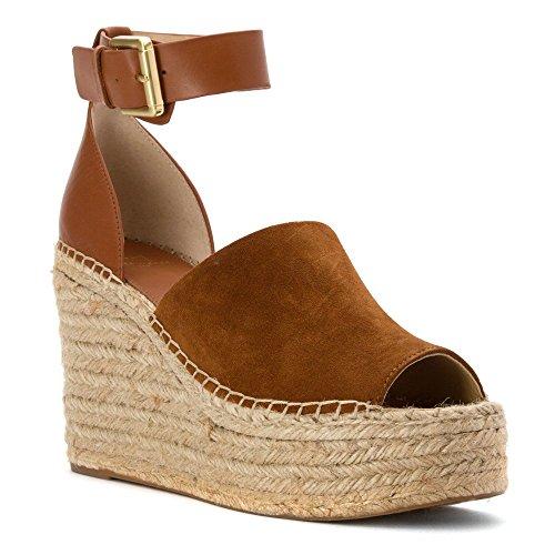 Marc Fisher LTD Women's Adalyn Espadrille Wedge Natural Suede 7 M US (Best Marc Fisher Platform Heels)