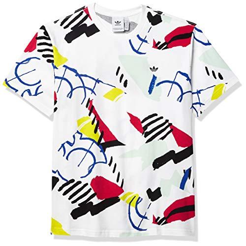 adidas Originals Men's Paint Brush Print T-Shirt