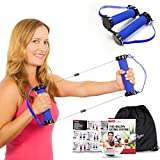 Best Resistance Bands Exercise Kit - Gwee Gym Total Body Workout Kit - All in One Portable Gym Equipment with Workout DVD, Travel Bag, and Healthy Eating e-Book - Weighs Less than Traditional Resistance Bands - For Fitness and Weight Loss - Works with Aerobics, Ab Workouts, Yoga, Pilates and Other Workout Routines - Replaces Treadmill, Elliptical, Exercise Bike, Dumbbells, Stepper, and Weights - Ultimate Crosstrainer