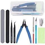 Toys : Rustark 9Pcs Gundam Model Tools Kit Hobby Building Tools Craft Set for Basic Model Building, Repairing and Fixing