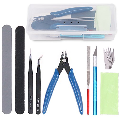 Rustark 9Pcs Gundam Model Tools Kit Hobby Building Tools Craft Set for Basic Model Building, Repairing and Fixing