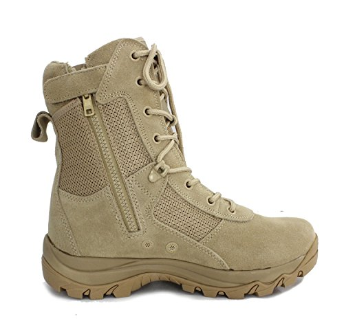 Ryno Gear Tactical Combat Boots with CoolMax Lining (Beige) (8, 9) by Ryno Gear