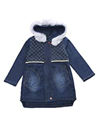 Capturelove Girls Winter Thicken Lamb Fleece Lined Denim Coat