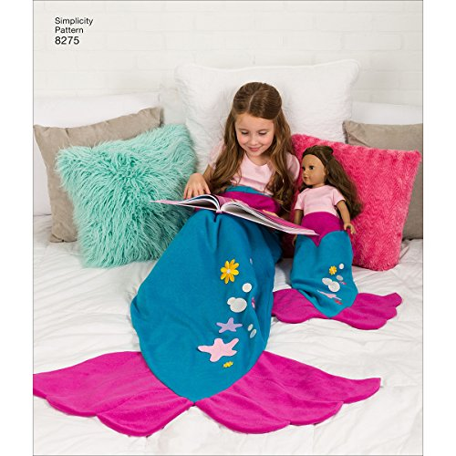 Simplicity Creative Patterns US8275A 8275 Simplicity Pattern 8275 Novelty Blankets For Child, Adult & 18