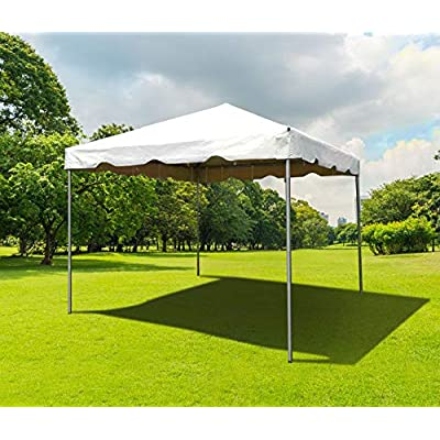 Steel West Coast Frame Style Party Tent for Weddings, Graduations, and Events (10' x 10', White) : Garden & Outdoor