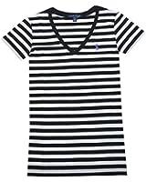 Ralph Lauren Women's V-neck Cotton Striped Tee