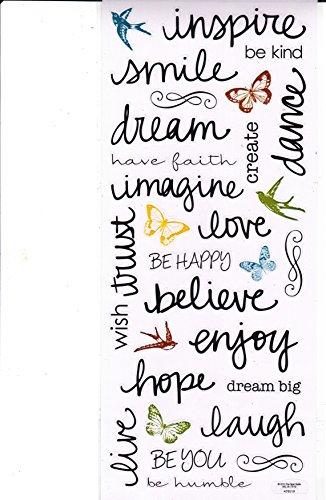 (Stickabilities Sticker Sheet - Inspiration Handwritten Words)