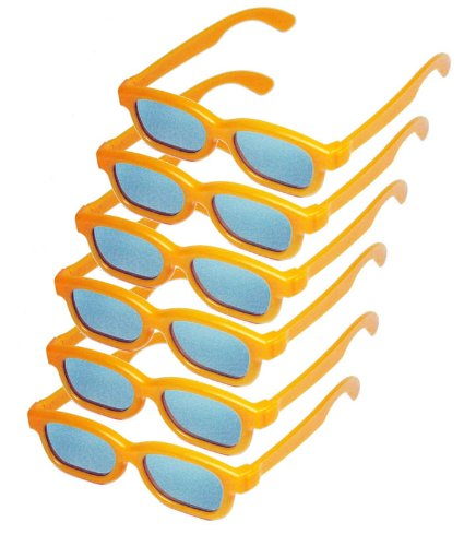 Children's Passive 3D Glasses for Kids - 6 PAIRS - RealD Certified - Home Cinema or Theater - Vizio, LG, Toshiba, Phillips, JVC