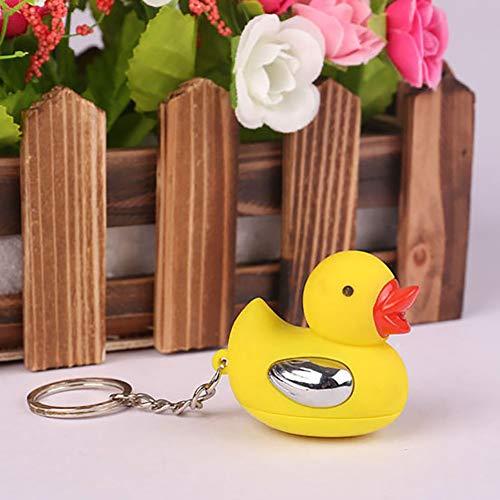 (millet16zjh Adult Joke Harmless Electric Shock Duck Party Funny Keychain Prank Trick Toy - Duck)