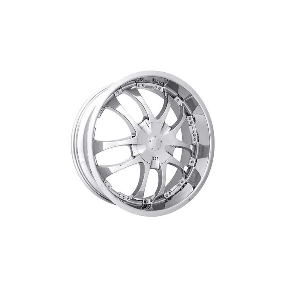 Strada A Arm 20 Chrome Wheel / Rim 5x115 & 5x120 with a 15mm Offset and a 72.6 Hub Bore. Partnumber H13050115