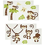 CoCo & Company Monkey Time Removable Wall Appliques (Discontinued by Manufacturer)