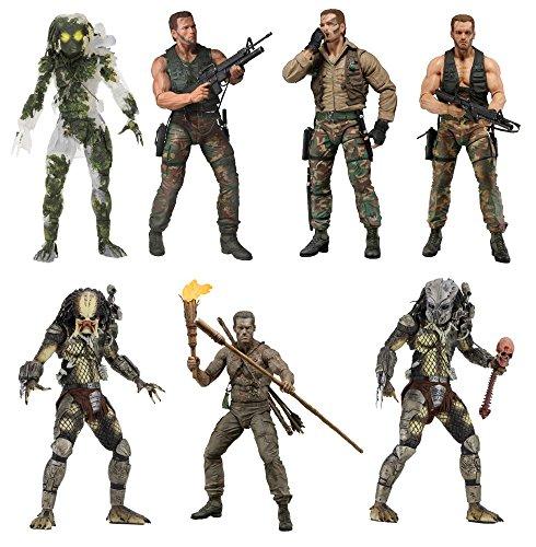 Predator 30th Anniversary 7-Inch Action Figure - Figure Predator Set