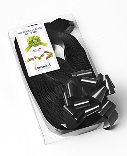 Package 30 Ribbon Bows - Width 31 mm - Black - Ceremony Decorations