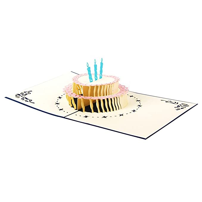 Amazon Yuhuafushi 10pcs 3d Greeting Card Cake Pattern Hollowed