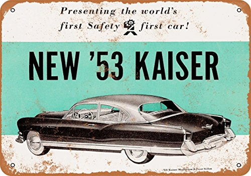 Wall-Color Vintage Look Metal Sign - 1953 Kaiser Manhattan for sale  Delivered anywhere in USA