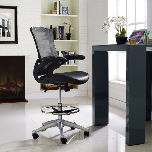 office products, office furniture, lighting, chairs, sofas,  drafting chairs 2 on sale LexMod MO-EEI-1422-BLK Attainment Vinyl Seat deals