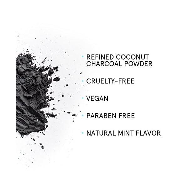 Polvo blanqueador de dientes de carbón activado (Gran 70 g, sabor a menta) 100% puro, natural y vegano | Blanqueamiento… 5