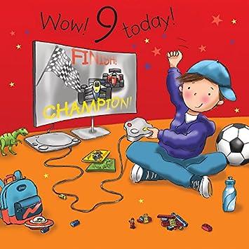 Twizler 9th Birthday Card For Boy With Playstation