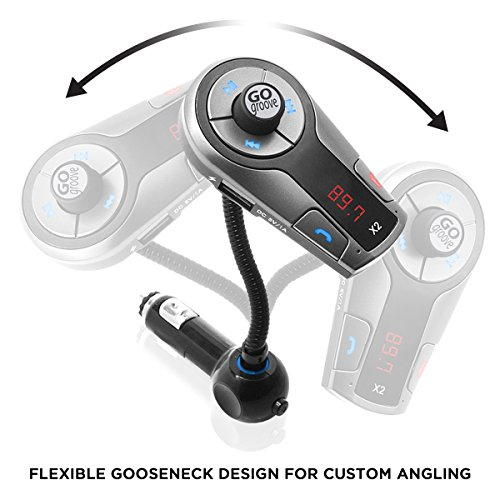 GOgroove FlexSMART X2 Bluetooth FM Transmitter for Car Radio w/USB Charging, Multipoint, Music Controls, Hands Free Microphone for iPhone, Android by GOgroove (Image #6)