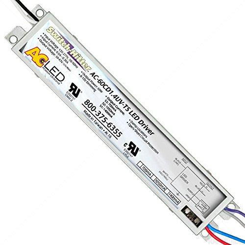 43V Dimmable LED Driver - Output Current 700mA-1400mA - Min/Max LEDWage 30-60W Driver Input 120-277V AC-60CD1.4UV-TS