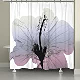 Laural Home'' Wild Grape Hibiscus X-Ray Flower Shower Curtain Multicolor