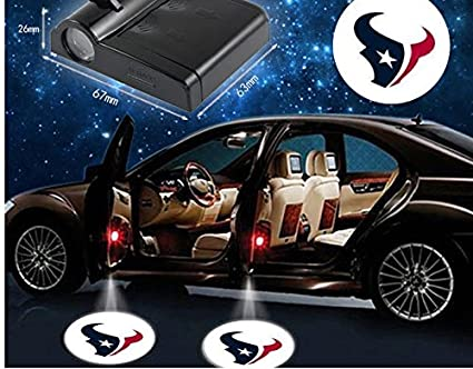 2pcs NFL Houston Texans inalámbrico LED para puerta de coche Logo ...