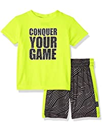 Baby Boys Sleeve Graphic Tee and Mesh Short Athletic 2 Piece Set