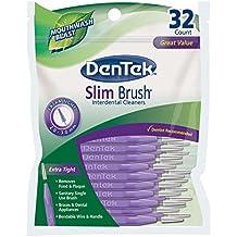 DenTek Slim Brush, Professional Interdental Cleaners, Tight Teeth, Mouthwash Mint, 32 Count