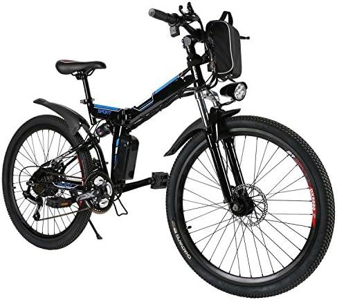 Teamyy Bicicleta Eléctrica Plegable de Montaña con la Batería de ...