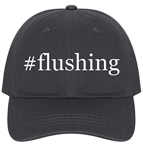The Town Butler #Flushing - A Nice Comfortable Adjustable Hashtag Dad Hat Cap, Dark Grey, One Size