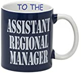 Funny Guy Mugs Assistant To The Regional Manager Coffee Mug, Ceramic, Blue, 11 Ounce