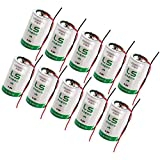 10x SAFT LS33600_WIRE D 3.6V 1700mAh Primary Lithium Thionyl Chloride Battery