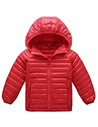 Roffatide Unisex Children Lightweight Down Coat Warm Puffer Jacket Windproof Outwear