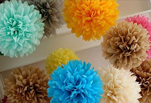 BeesClover Pom Blooms Flower Balls 14 inch Tissue Paper Pom Paper Lantern Show by BeesClover (Image #1)